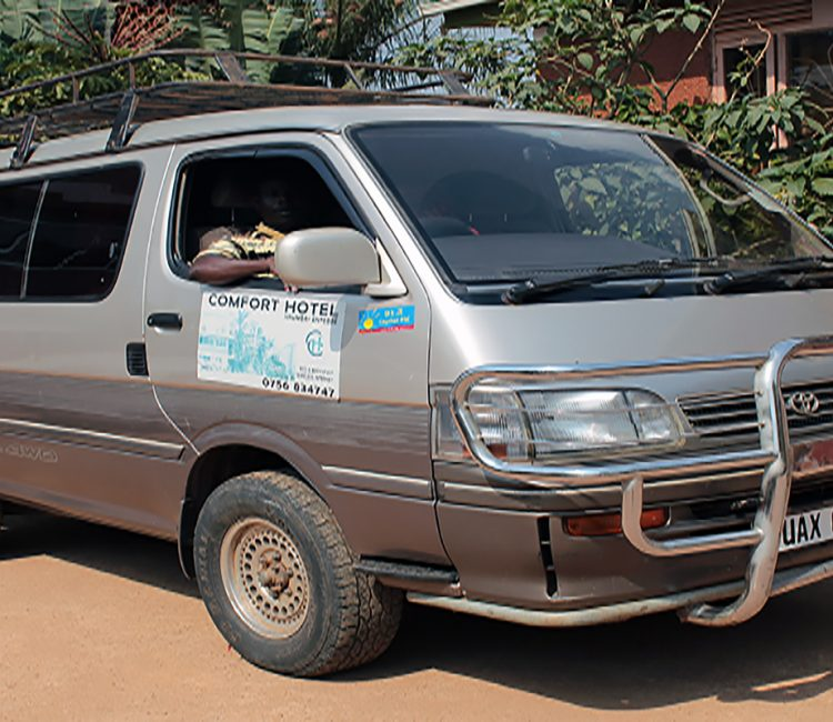 Comfort Hotel VAN for hire